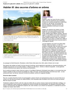 Habiter III_ des oeuvres d'arbres en arbres _ Josianne Desloges _ Expositions-1