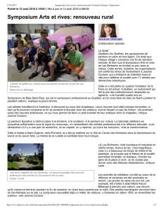 Symposium Arts et rives_ renouveau rural _ Josianne Desloges _ Expositions-1